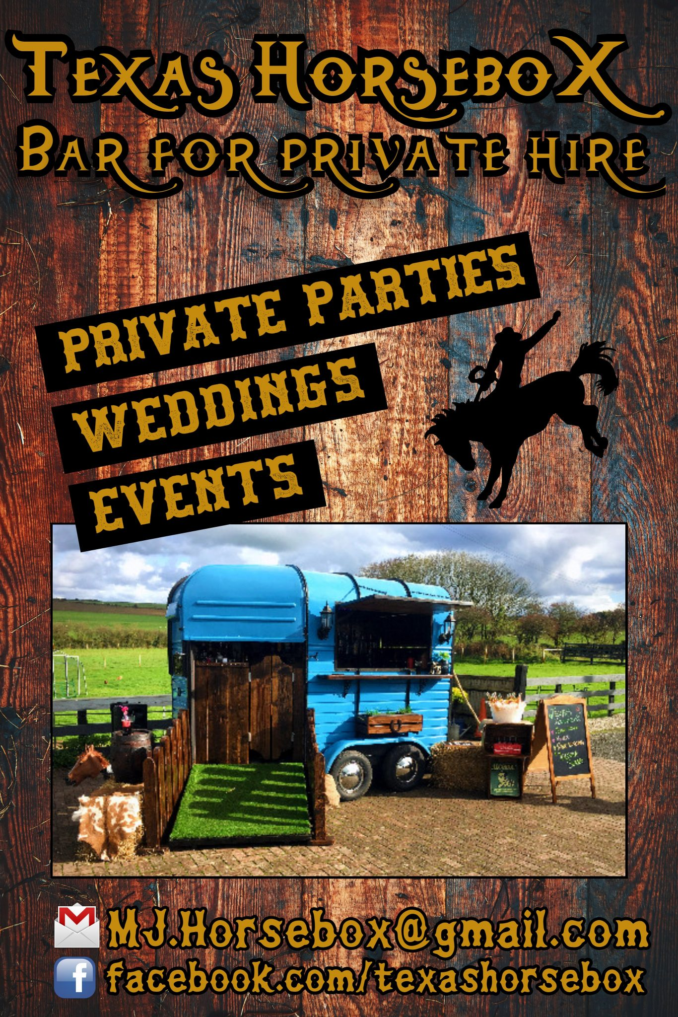 Texas Horsebox bar for private hire